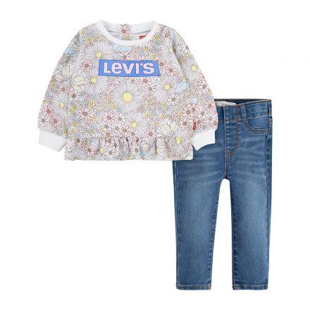 חליפת LEVIS לתינוקות פרחוני
