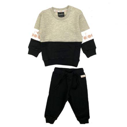 חליפת DIADORA לתינוקות אפור שחור