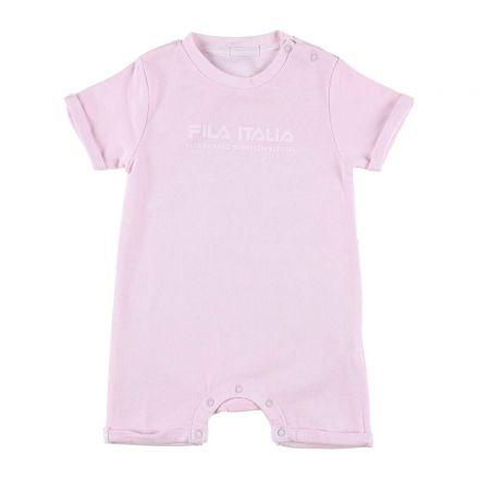 אוברול קצר FILA לתינוקות לוגו לבן