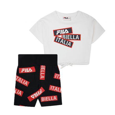 חליפה קצרה FILA לילדות לוגו BIELLA ITALIA