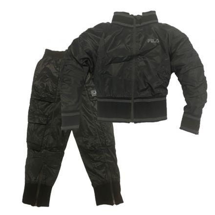 חליפת FILA לילדות מידות ניילון שחור אפור