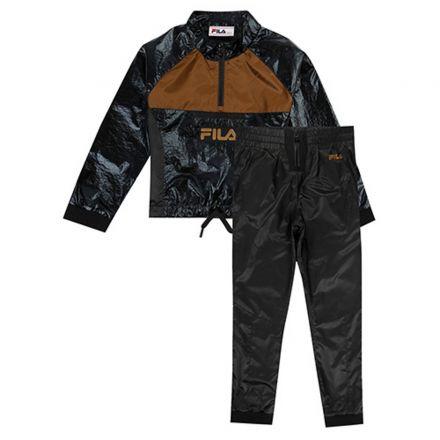 חליפת FILA לילדות ניילון לוגו חום