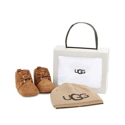 מארז NB UGG NUENEL מגפיים וכובע לתינוקות