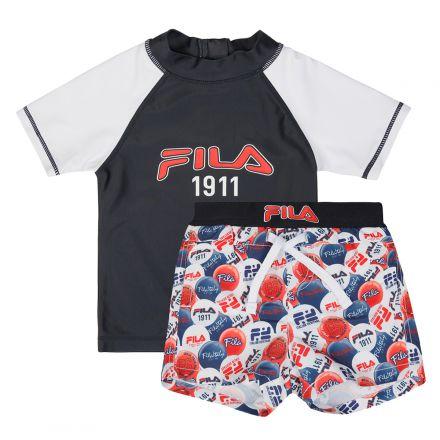 בגד ים 2 חלקים FILA לילדים עיגולי לוגו