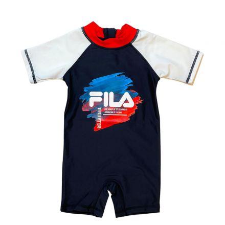 בגד ים שלם FILA לילדים לוגו צבעי גואש