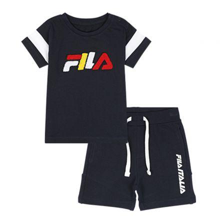 חליפה קצרה FILA לתינוקות לוגו פרווה