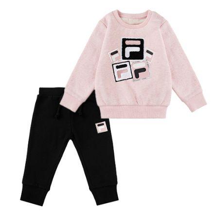 חליפת FILA לתינוקות לוגו ריבוע