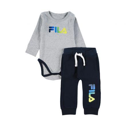 חליפה ארוכה FILA לתינוקות לוגו רקמה