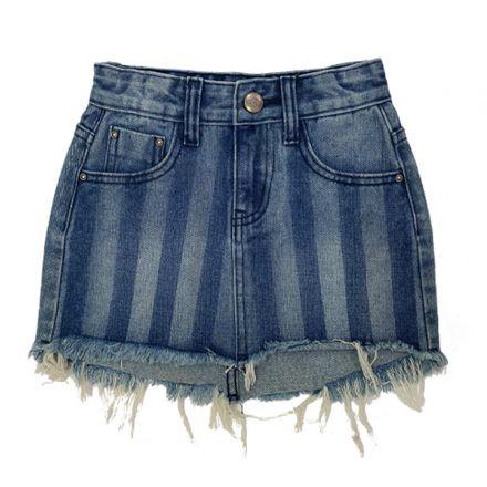 חצאית ג'ינס ORO אורו כחול פסים