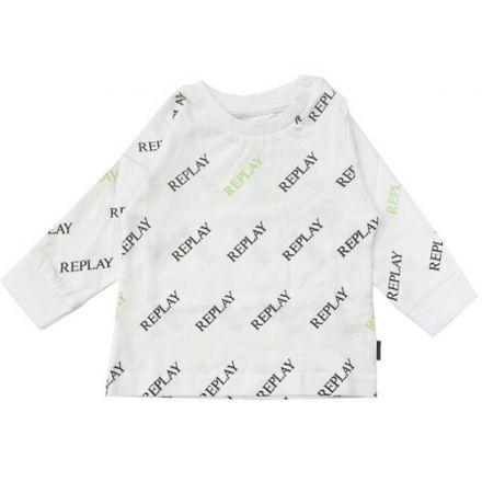 חולצה REPLAY לתינוקות לוגו מלא