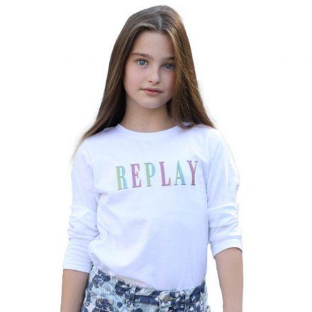 חולצת REPLAY לילדות לוגו