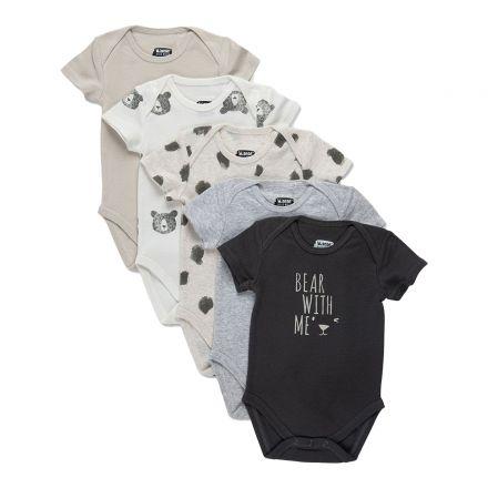 מארז חמישיית בגדי גוף שרוול קצרMINENE לתינוקות