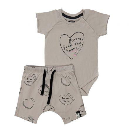 סט ב.גוף ומכנסיים קצריםMINENE לתינוקות