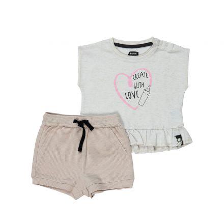 סט חולצה ומכנסיים קצריםMINENE לתינוקות