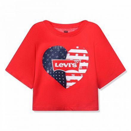 חולצת LEVIS לוגו מותג לב לילדות