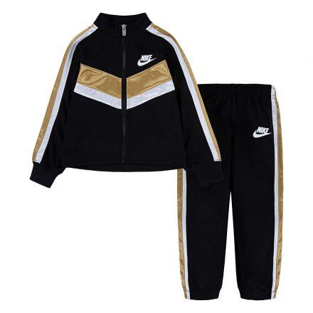 חליפת NIKE GOLD ריצ'רץ 2 פסים בצדדים לילדות