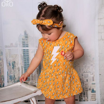 שמלת ORO בגד גוף טריקו צהוב