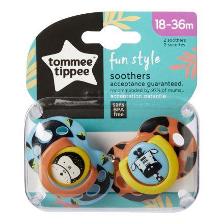 זוג מוצצים Tommee Tippee עם איורים 18-36