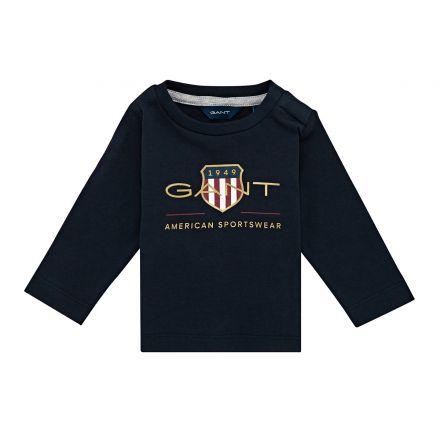 חולצת טישירט שרוול ארוך GANT AMERICAN לתינוקות
