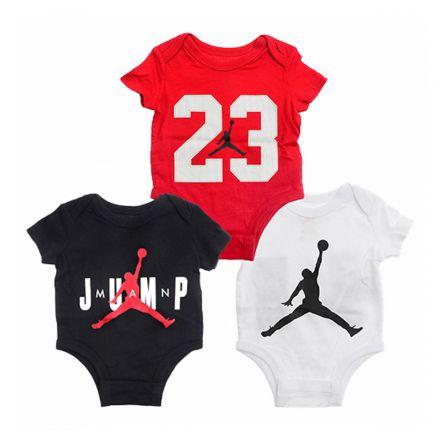 מארז 3 בגדי גוף JORDAN לתינוקות הדפס