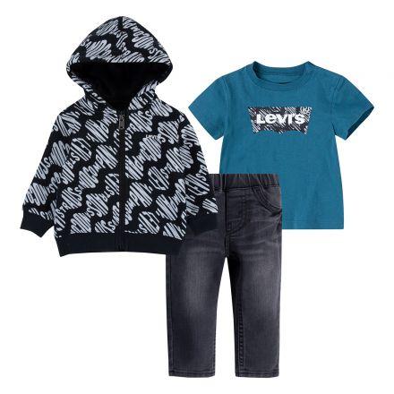 חליפת LEVI'S לתינוקות לוגו מותג