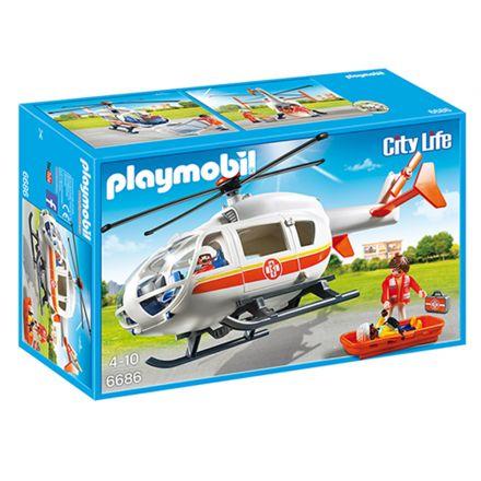 אמבולנס מעופף (גילאים +4) Playmobil 6686