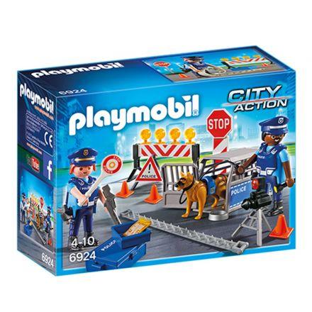 מחסום דרכים משטרתי (גילאים +4) Playmobil 6924