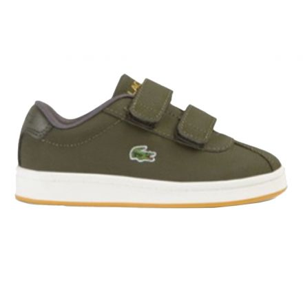 נעלי LACOSTE לילדים סניקרס MASTERS ירוק זית
