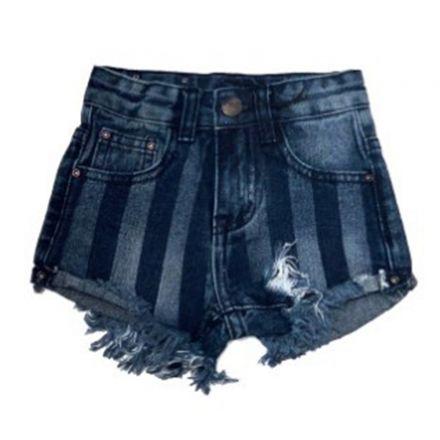 ג'ינס ORO לילדות שורט פסים