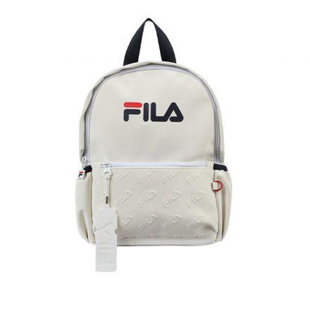 תיק גן FILA יוניסקס לבן לוגו