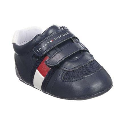 נעלי Tommy Hilfiger דגם וולקרו כחול ולבן  תינוקות