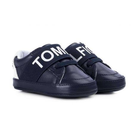 נעלי Tommy Hilfiger עיצוב שרוכים כחול לבן  תינוקות