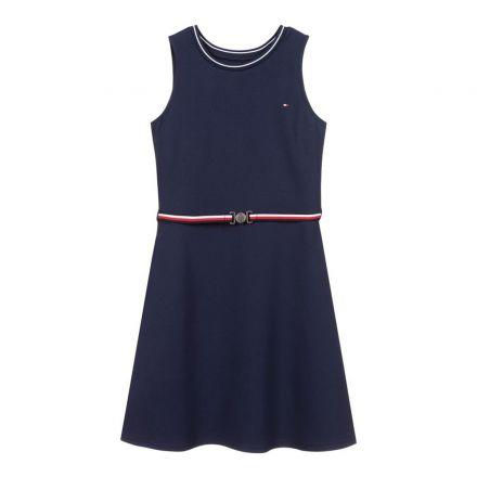 שמלת מידי Tommy Hilfiger פונטו מילאנו עם הדפס תחתון / ילדות