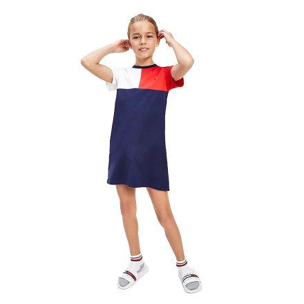 שמלת מידי Tommy Hilfiger עיצוב פסים / ילדות