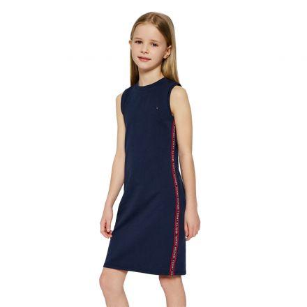 שמלת מידי Tommy Hilfiger  ספורט הדפס בצדדים / ילדות