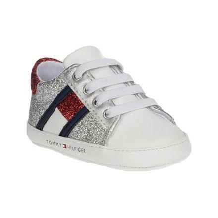 נעלי Tommy Hilfiger  שרוכים עיצוב לבן צבעוני  תינוקות