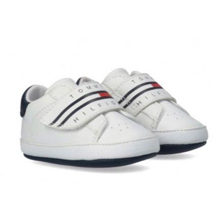 נעלי Tommy Hilfiger דגם וולקרו לבן  תינוקות