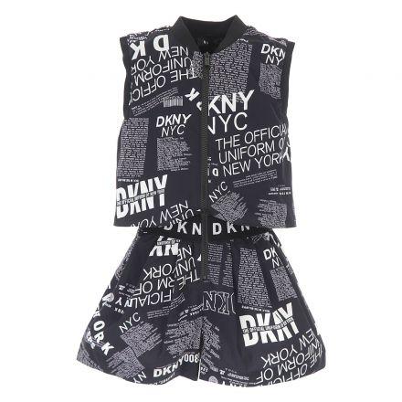אוברול DKNY לוגו מפוזר לילדות