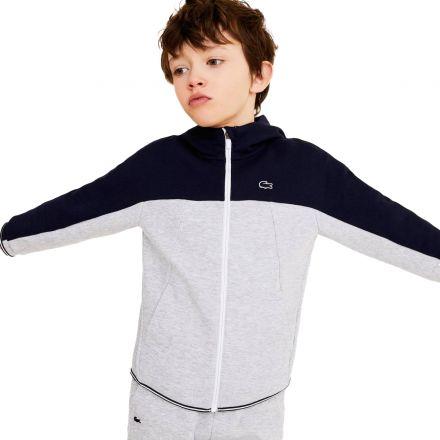 חליפת LACOSTE לקוסט לילדים אפור כחול
