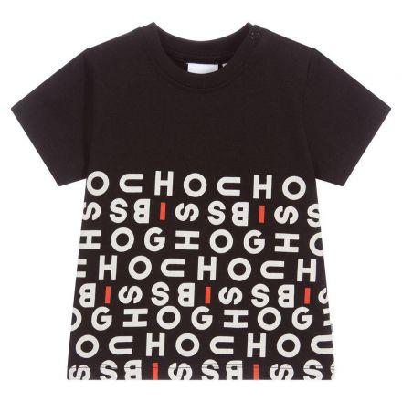 חולצת BOSS לילדים שחור