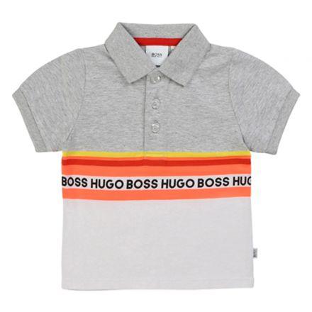 חולצת BOSS לתינוקות אפור פסים