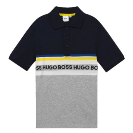 חולצת BOSS לתינוקות כחול פסים