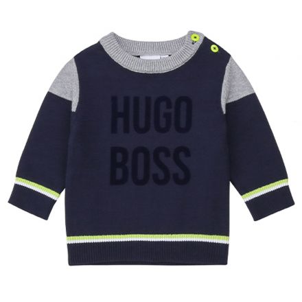 חולצת BOSS לתינוקות לוגו הוגו בוס באמצע