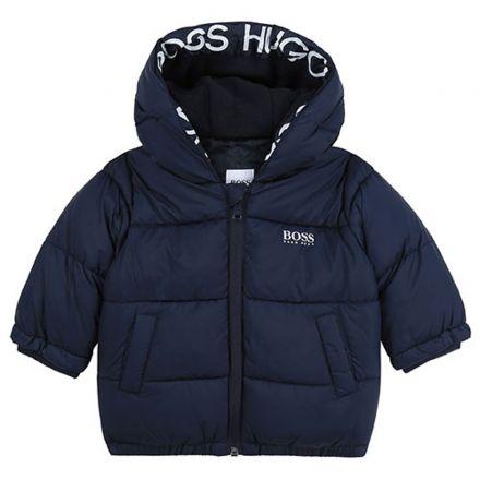 מעיל BOSS לתינוקות לוגו בצד