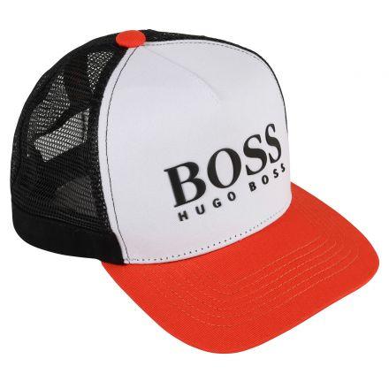 כובע BOSS יוניסקס כתום רשת