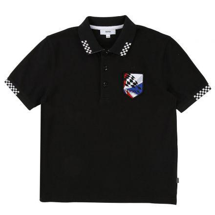 חולצת BOSS לילדים צווארון