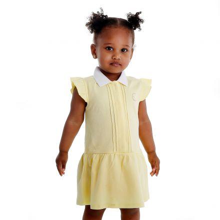 שמלת BOSS לתינוקות צהוב סמל