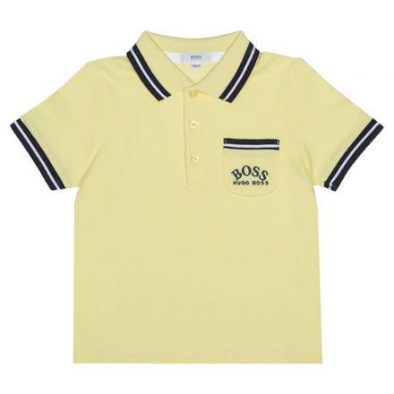 חולצת BOSS לתינוקות כיס בצד