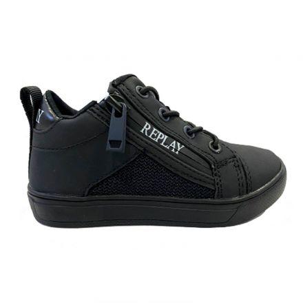 נעלי REPLAY לוגו ברוכסן גבוה לילדים