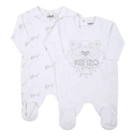 זוג אוברולים KENZO  לוגו מותג לתינוקות